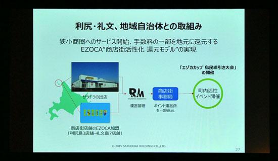 """サツドラ:利尻・礼文、地域自治体との取り組み。狭小商圏へのサービス開始、手数料の一部を地元に還元するEZOCA""""商店街活性化還元モデル""""の実現"""