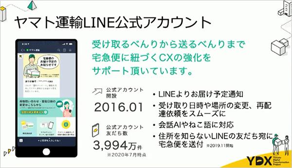 ヤマト運輸LINE公式アカウント